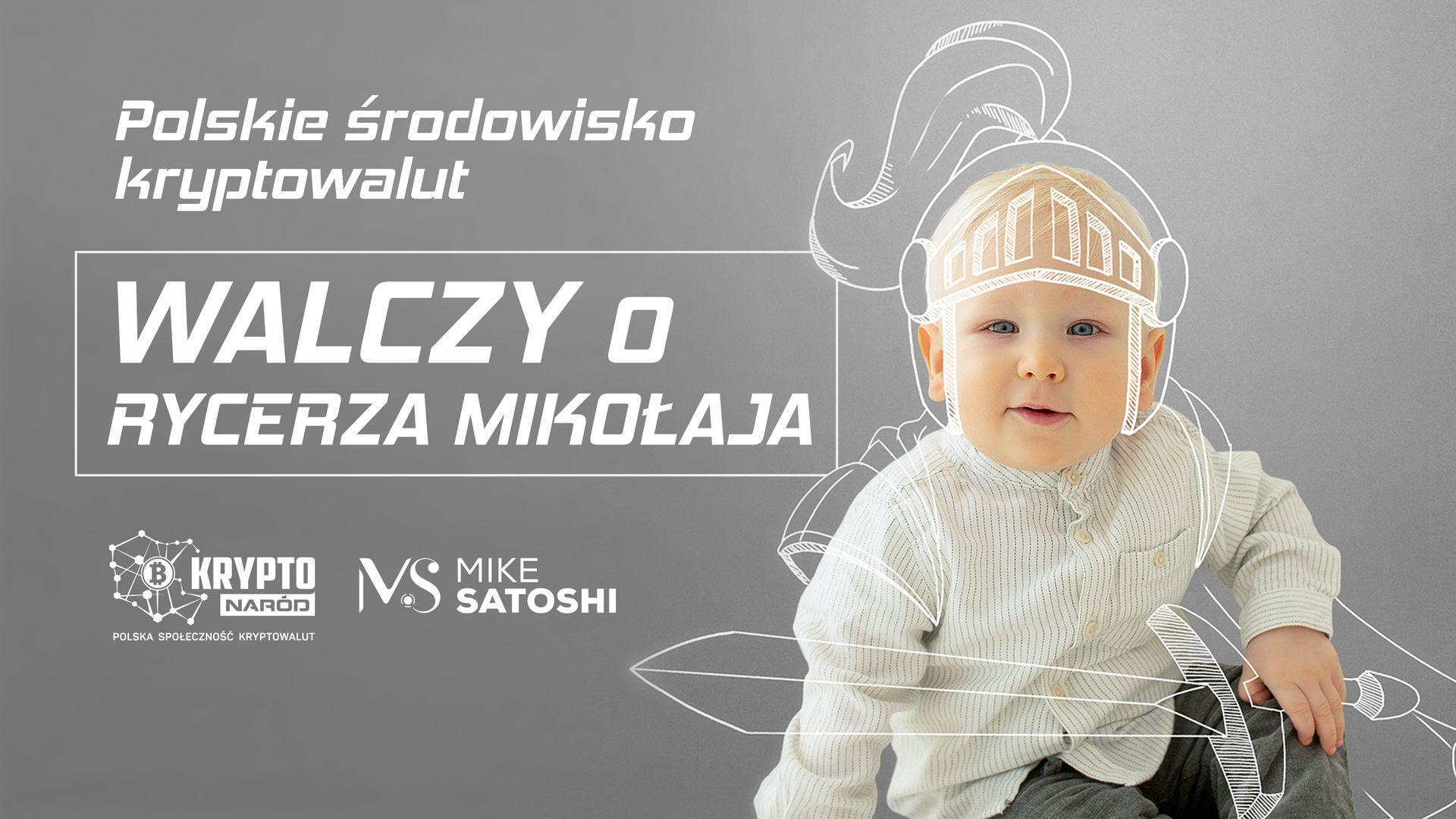 Polska krypto społeczność wspiera charytatywnie Rycerza Mikołaja