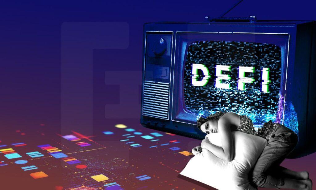 Całkowita wartość zablokowana DeFi spada prawie o 40% od swoich maksimów