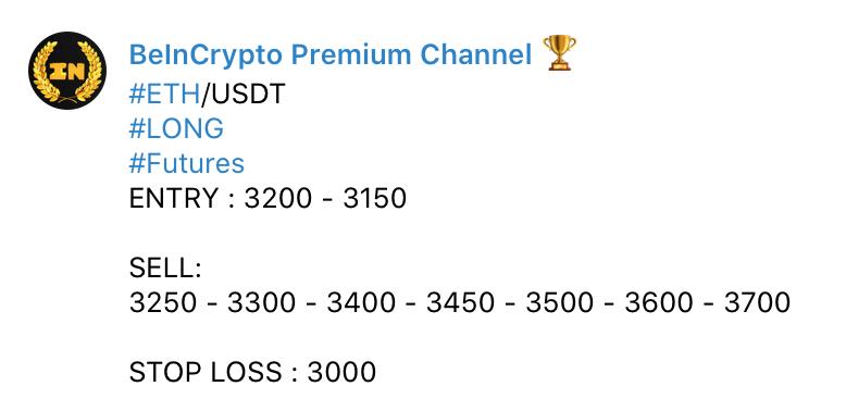 Kanał Premium - sygnał kryptowalutowy