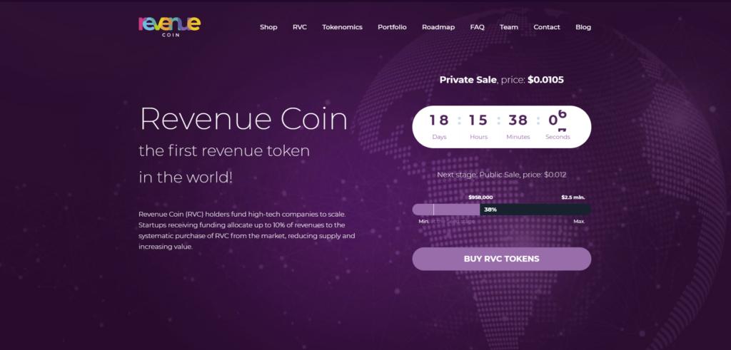 Revenue Coin website